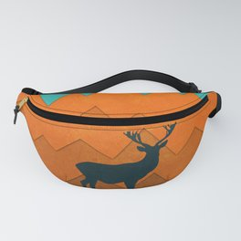Deer silhouette in autumn Fanny Pack