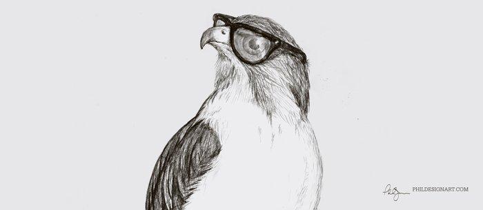 Hawk with Poor Eyesight Coffee Mug
