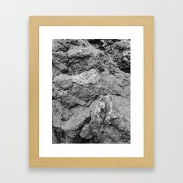 Rocky rocks Framed Art Print
