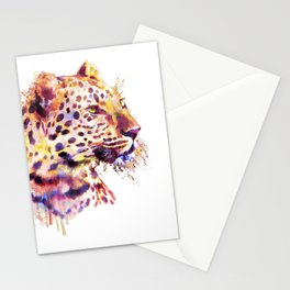 Leopard Head Stationery Cards