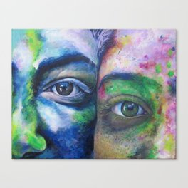 We Compliment Each Other Like Colors Canvas Print