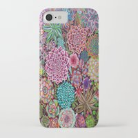 succulents iPhone & iPod Cases featuring Succulents by gwolly