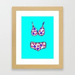 Aussie Christmas Card Set Pink & Aqua Design#7 Watermelon Bikinis Framed Art Print