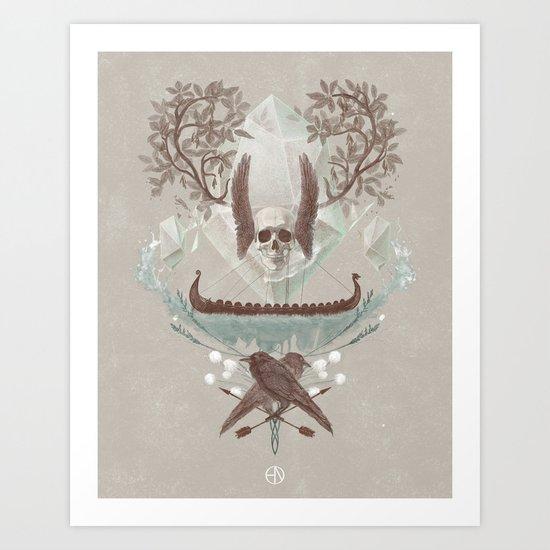 Ghosts of Scandinavia. Iceland. Art Print
