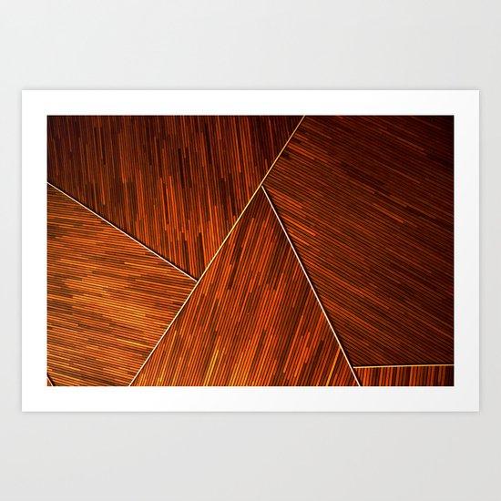 Geometric Grain Art Print