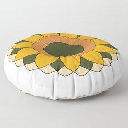 Happy Sunflower Floor Pillow