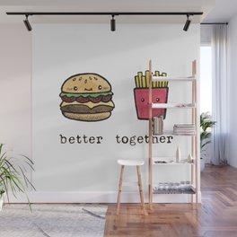 Burger and Fries Wall Mural