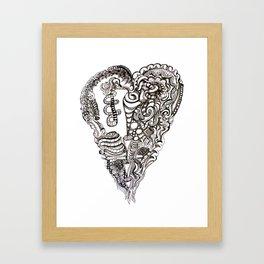 Dark Heart Framed Art Print