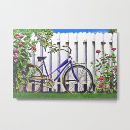 Among the roses Metal Print