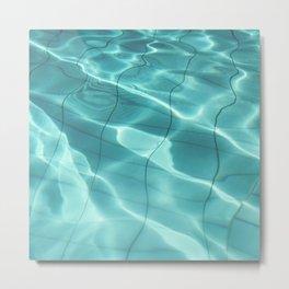 Water / Swimming Pool (Water Abstract) Metal Print