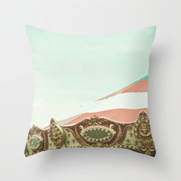 At the Carnival Throw Pillow