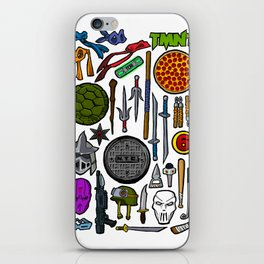 TMNT Weapons & Masks iPhone Skin
