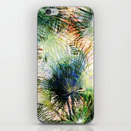 Modern palm leaves tropical abstract design iPhone Skin