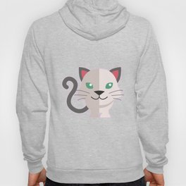 oneechan no shiro neko white cat kitten Hoody