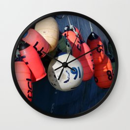 Fishing Buoy Photography Print Wall Clock