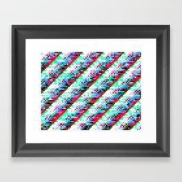 filtered diagonals Framed Art Print
