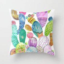 Cactus King Throw Pillow
