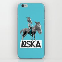 warrior iPhone & iPod Skins featuring Warrior by LOSKA