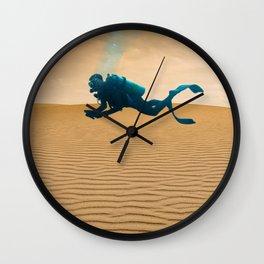 Desert divers Wall Clock