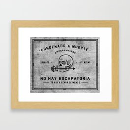 Condenado A Muerte - White Framed Art Print