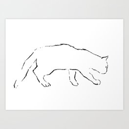 Cat 12 Art Print