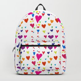 Imperfect Hearts Pattern - Original/White Backpack