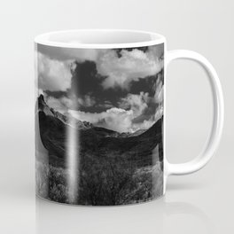 Dramatic Clouds over Mountain Range in Big Bend Coffee Mug