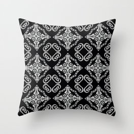 Victorian Gothic Holiday Wallpaper Throw Pillow