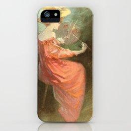 Vintage poster - La Peinture iPhone Case