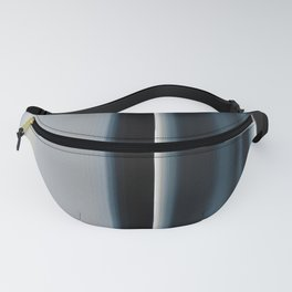 Vertical Blue and White Stripes Fanny Pack