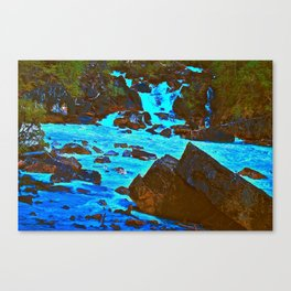 Meeting of the Waters Canvas Print
