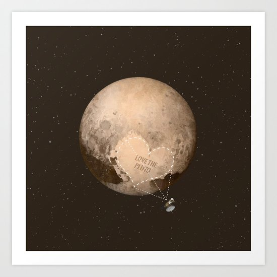 Love the Pluto Art Print