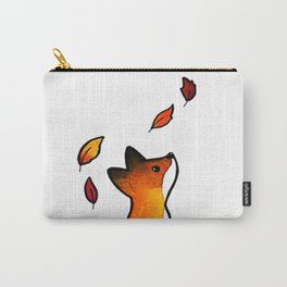 The Fox in The Leaves Carry-All Pouch
