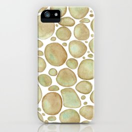 Bubbles/Rcks Brown iPhone Case
