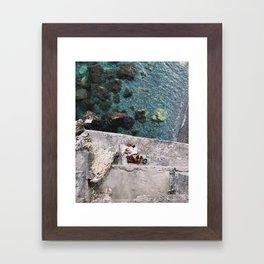 Secret Picnic, Amalfi Framed Art Print