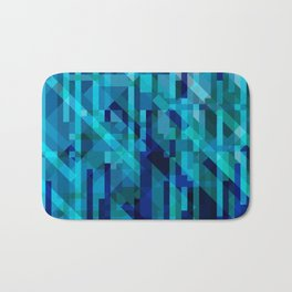abstract composition in blues Bath Mat