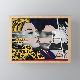 "Roy Lichtenstein's ""In the car"" & Marcello Mastroianni with Anita Ekberg Framed Mini Art Print"