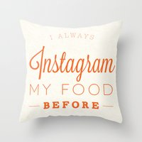 instagram Throw Pillows featuring Instagram by PaulWorm