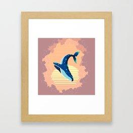 Sky Whale Framed Art Print