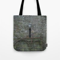 history Tote Bags featuring History by Melia Metikos