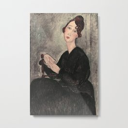 Portrait of Dedie Hayde by Amedeo Modigliani Metal Print