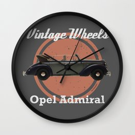 Vintage Wheels: Opel Admiral Wall Clock