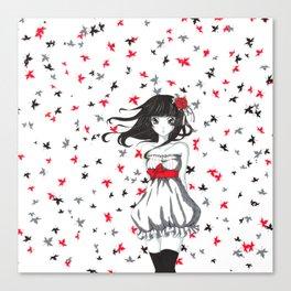 Autum girl Canvas Print