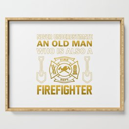 Old Man - A Firefighter Serving Tray