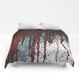 Bloody Rust Drips Comforters