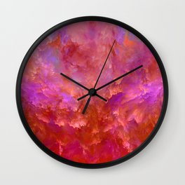 """Abstract Spring Fire"" Wall Clock"