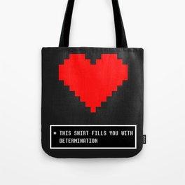 undertale determination Tote Bag