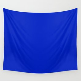 Solid Deep Cobalt Blue Color Wall Tapestry