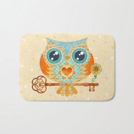 Owl's Summer Love Letters Bath Mat