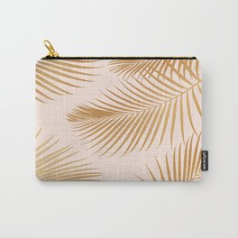 Tropical Escape / Golden Palm Fronds Carry-All Pouch